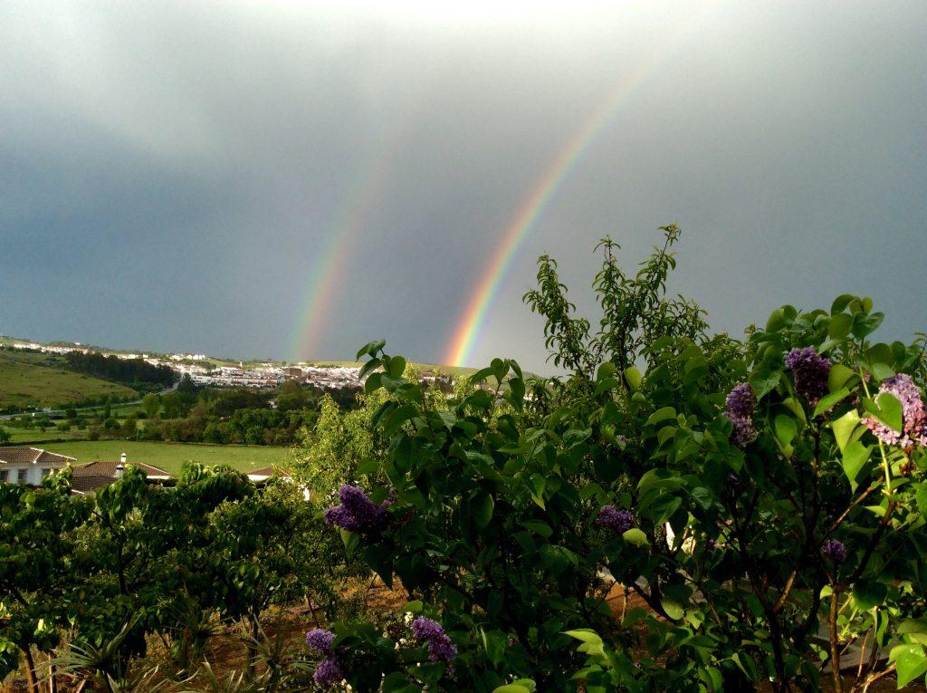 doble arco iris de primavera