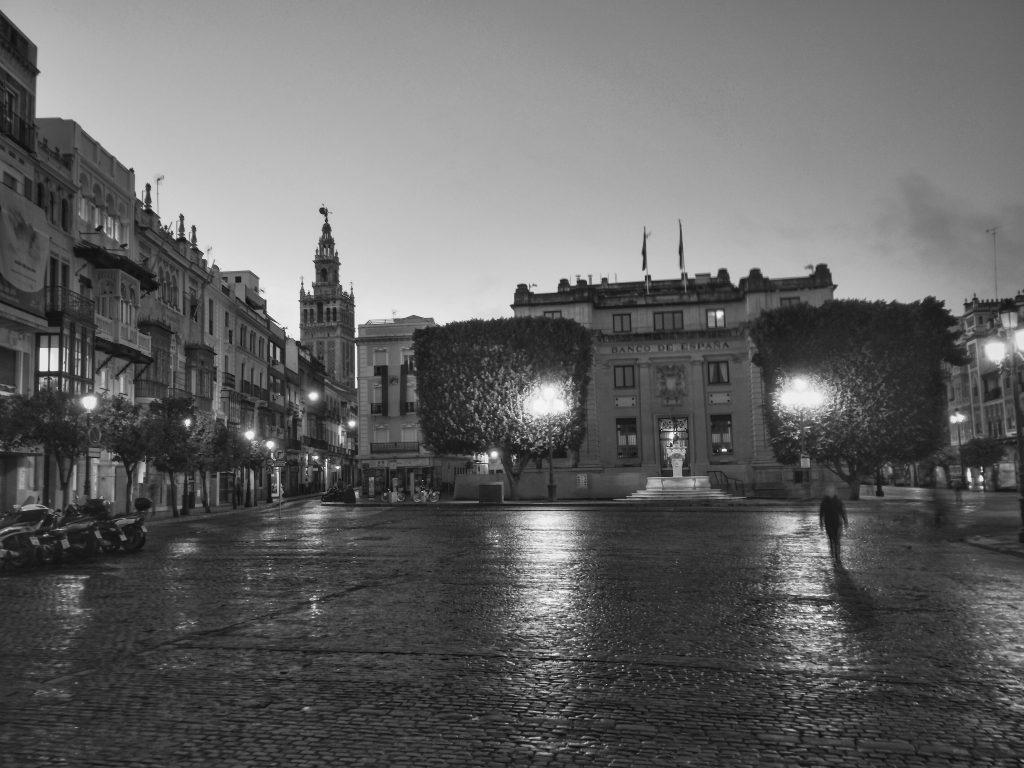 invierno en la plaza de san francisco